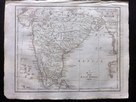 Field of Mars 1801 Antique Map. A Map of the East Indies. India